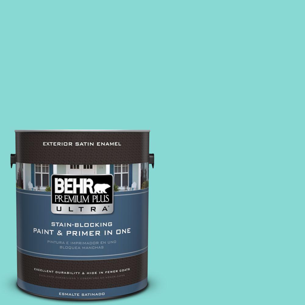 BEHR Premium Plus Ultra 1-gal. #P450-3 Rainwater Satin Enamel Exterior Paint