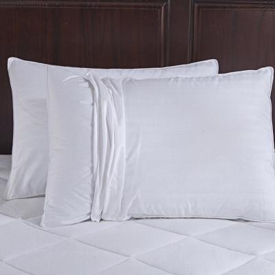 Puredown Goose Down Gusset Pillow with Pillow Protectors in King (Set of 2)