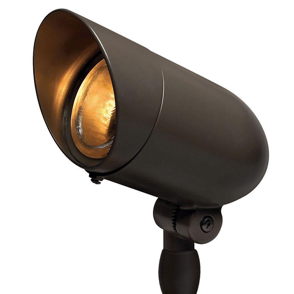 120-Volt Line-Voltage Bronze Small Spotlight PAR16 or PAR20