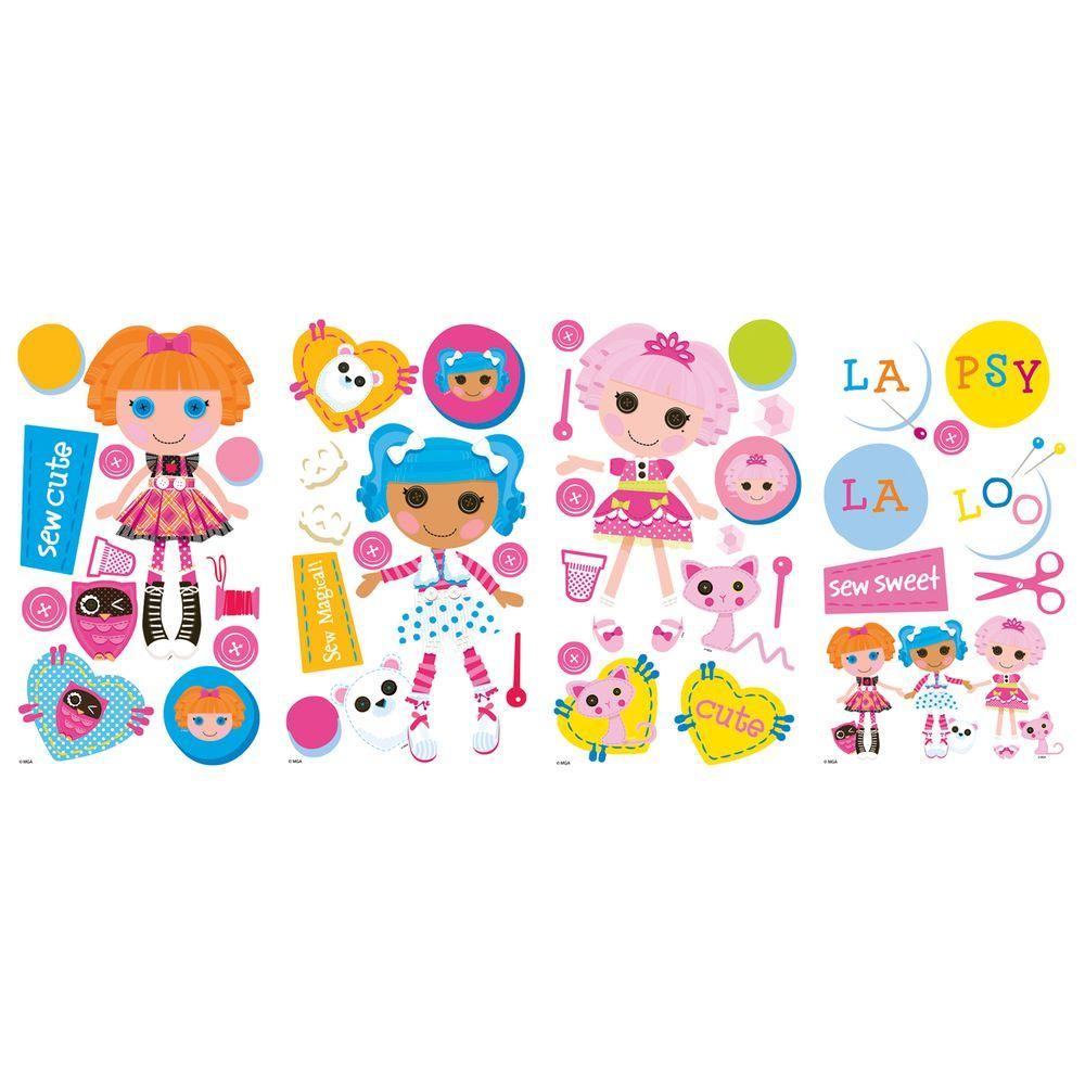 null 10 in.x 18 in. Lalaloopsy 44 -Piece Peel and Stick Wall Decals