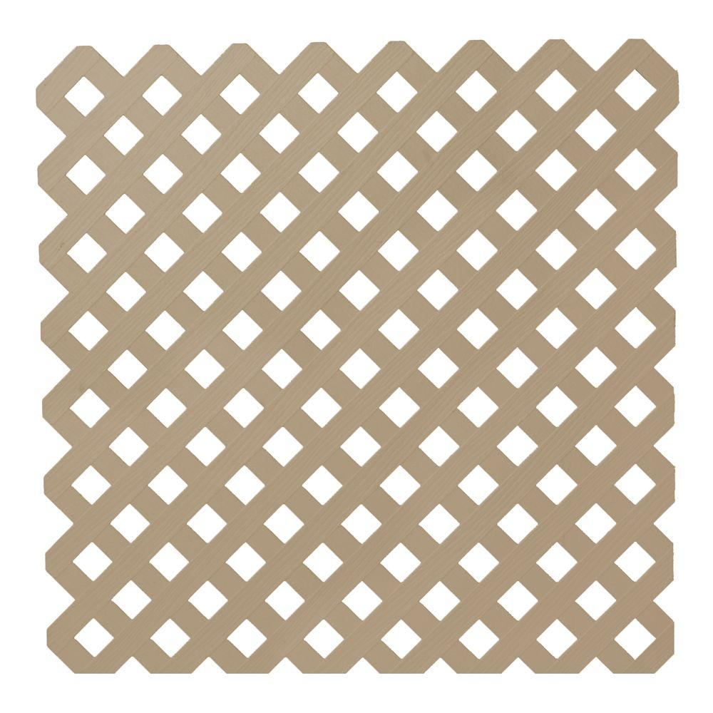 0.2 in. x 48 in. x 8 ft. Brownstone Privacy Plastic