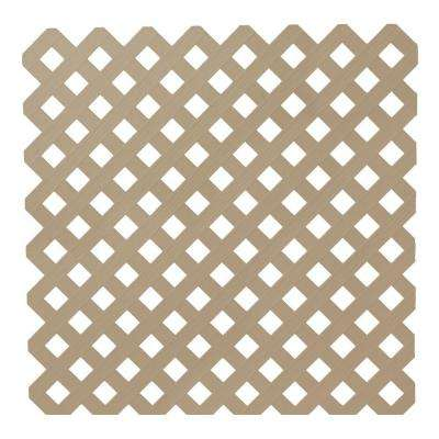 0.2 in. x 48 in. x 8 ft. Brownstone Privacy Plastic Lattice
