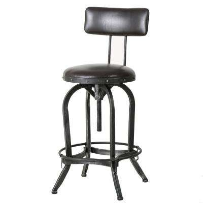Vlippu 39 in. Brown Adjustable Bar Stool