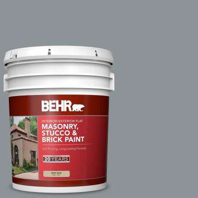 Behr 5 Gal N450 4 Moonquake Flat Interior Exterior Masonry Stucco And Brick Paint 27205 The Home Depot