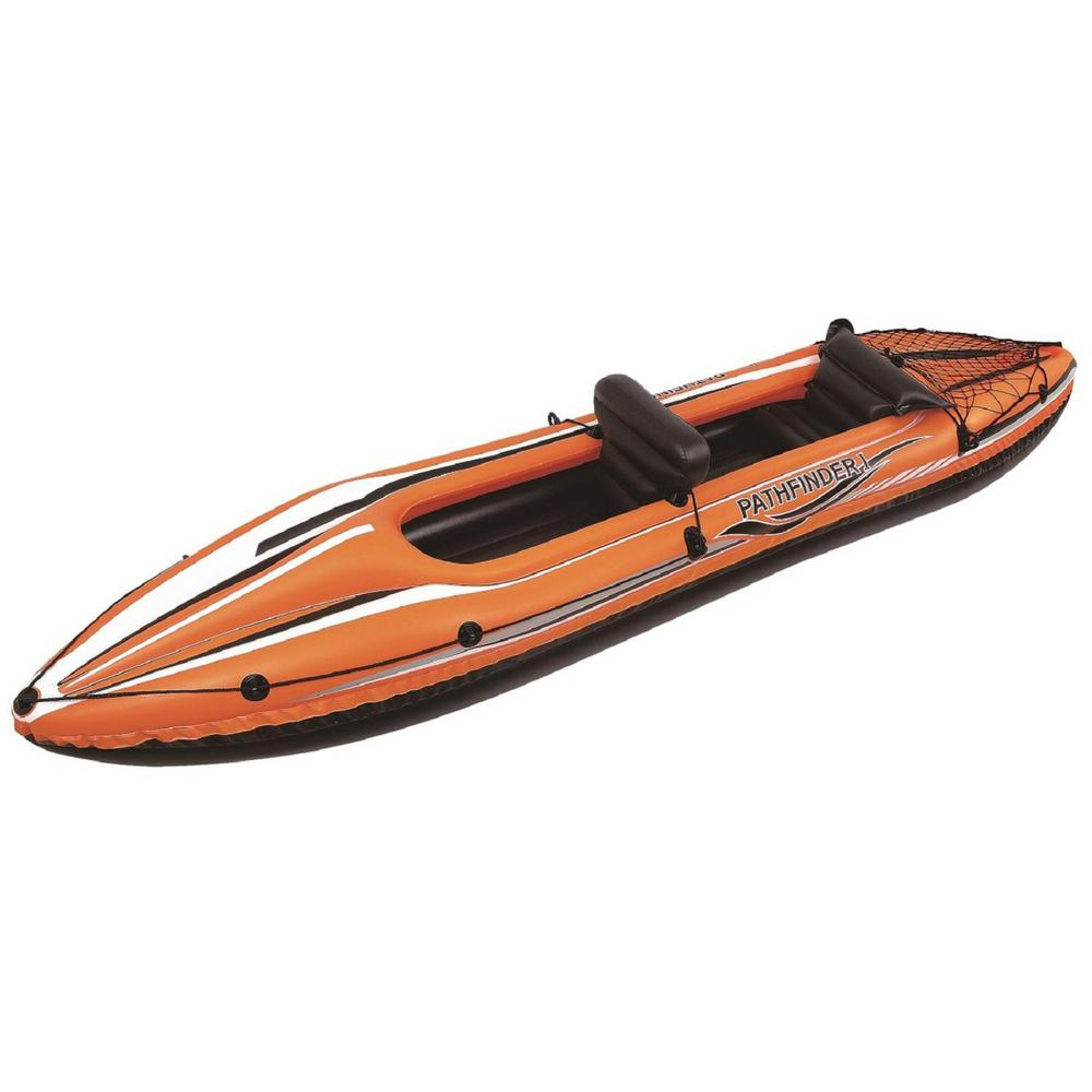 138 in. Orange and Black Inflatable 2-Person Kayak