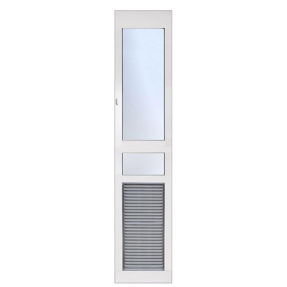 6.38 in. x 13.5 in. Weather and Energy Efficient Pet Door with Magnetic Closure for Regular Height Patio Doors