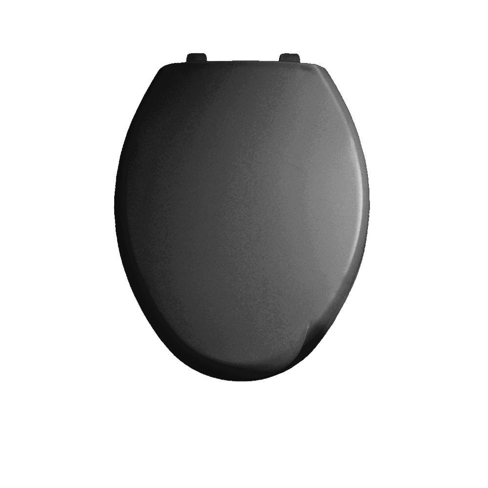 American Standard Savona Elongated Closed Front Toilet Seat in Black-DISCONTINUED