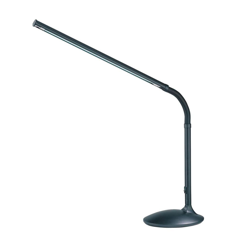 Illumine 24.5 in. Black Desk Lamp