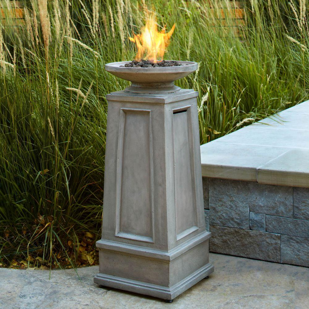 Real Flame Corsica 15 in. Propane Gas Fire Pit Column