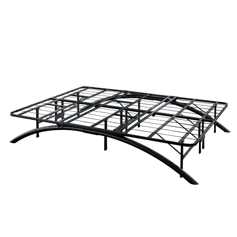 King-Size Dome Arc Platform Bed Frame in Black