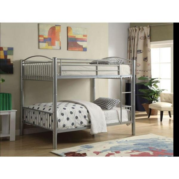 Homeroots Amelia Silver Metal Full Bed 286166 The Home Depot
