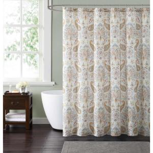 Style 212 Manchester 72 inch Blue and Neutral Shower Curtain by Style 212