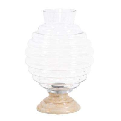 Clear Glass Beehive Vase - Large