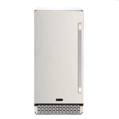 3.2 cu. ft. Indoor and Outdoor Refrigerator in Stainless Steel