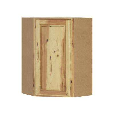 Madison Assembled 24x36x24 in. Corner Wall Cabinet in Hickory