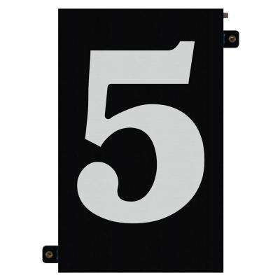 5 in. Modular LED Illuminated House Number 5