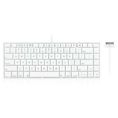 Full Size Wired 30-Pin Keyboard for iPhone, iPad and iPod