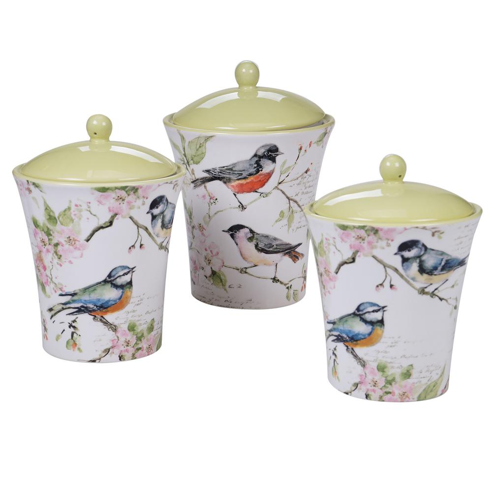 Certified International 26765 Torino 3 pc Serving Acessories Multicolred Canister Set Servware