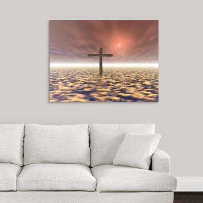 """The Mystery Of The Cross"" by Paul Sale Vern Hoffman Canvas Wall Art"