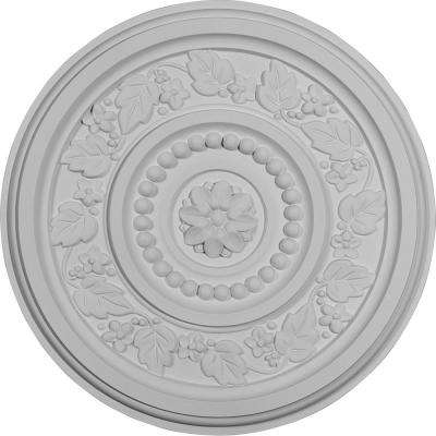 16-1/8 in. OD x 5/8 in. P (Fits Canopies up to 4-1/4 in.) Marseille Ceiling Medallion