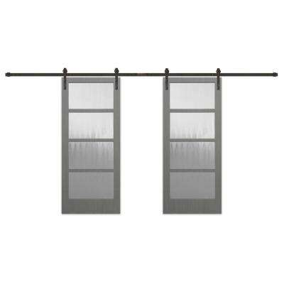 Glass Barn Doors Interior Closet Doors The Home Depot