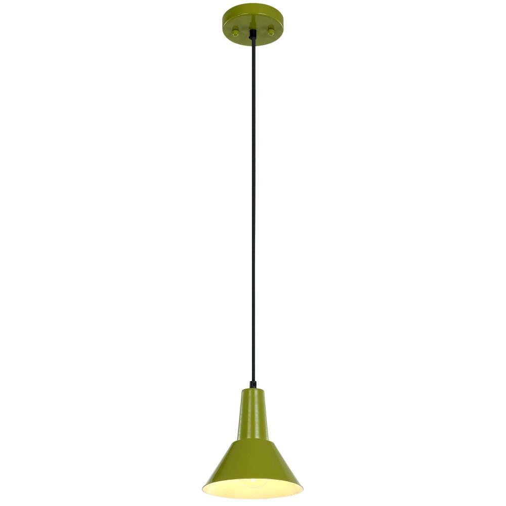 Ledpax Technology Danbury 1-Light Lime Green Pendant