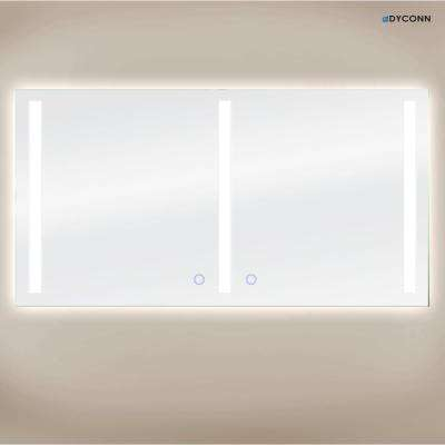 Catella Plus 72 in. x 38 in. Wall Mounted Backlit LED Mirror With Touch On/Off Dimmer & Anti-Fog Function