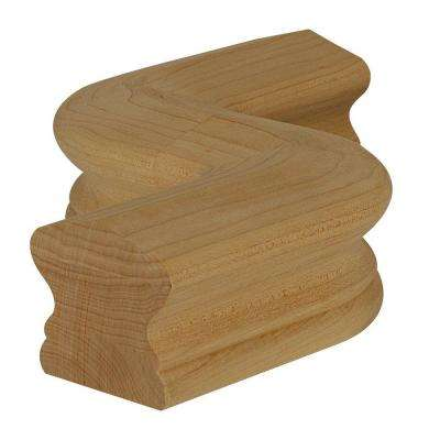 7547 Unfinished Wood Hard Maple Right-Hand S Hand Rail Fitting