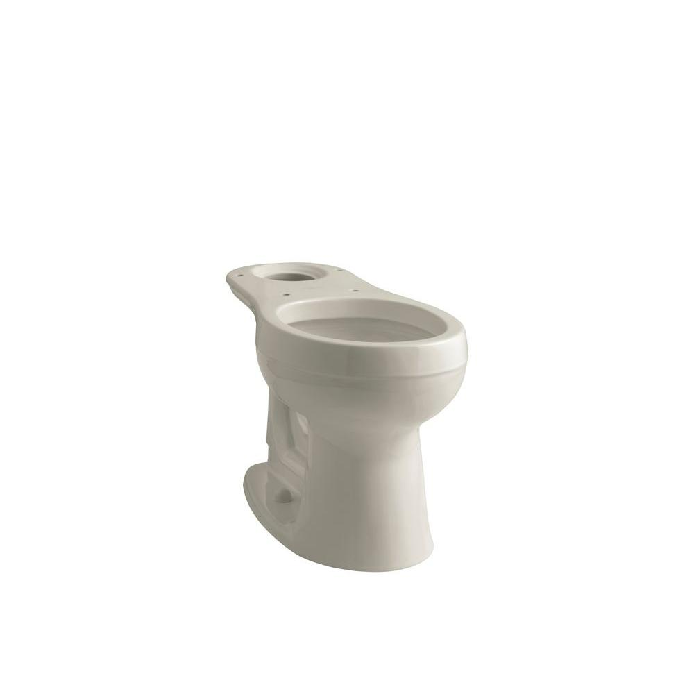 KOHLER Cimarron Round Front Toilet Bowl Only Less Seat in Sandbar-DISCONTINUED