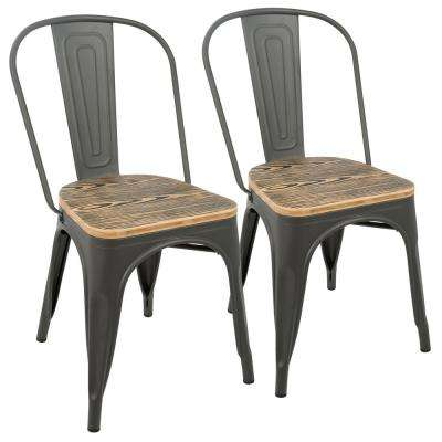 Oregon Grey and Brown Dining Chair (Set of 2)