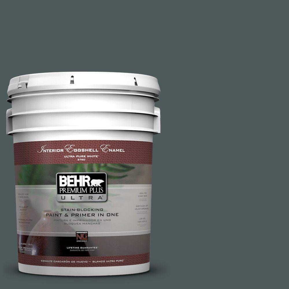 BEHR Premium Plus Ultra 5-gal. #N440-7 Midnight in NY Eggshell Enamel Interior Paint