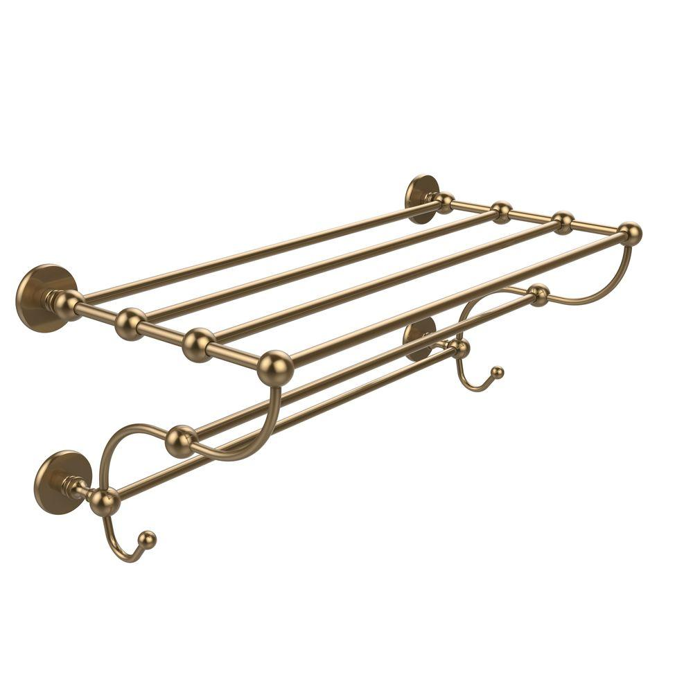 Prestige Skyline Collection 24 in. Train Rack Towel Shelf in Brushed