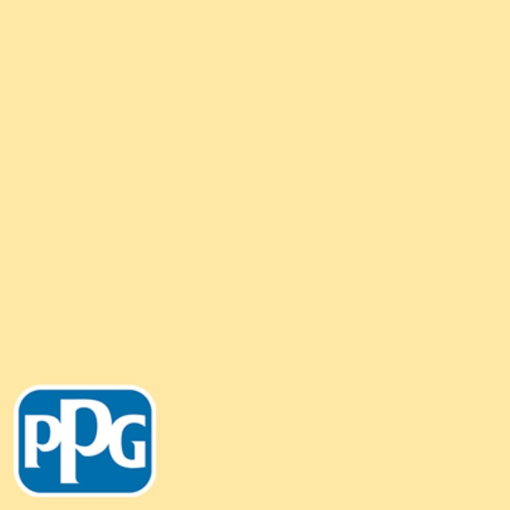 PPG TIMELESS 8 oz. #HDPPGY42 Buttercup Flat Interior/Exterior Paint Sample