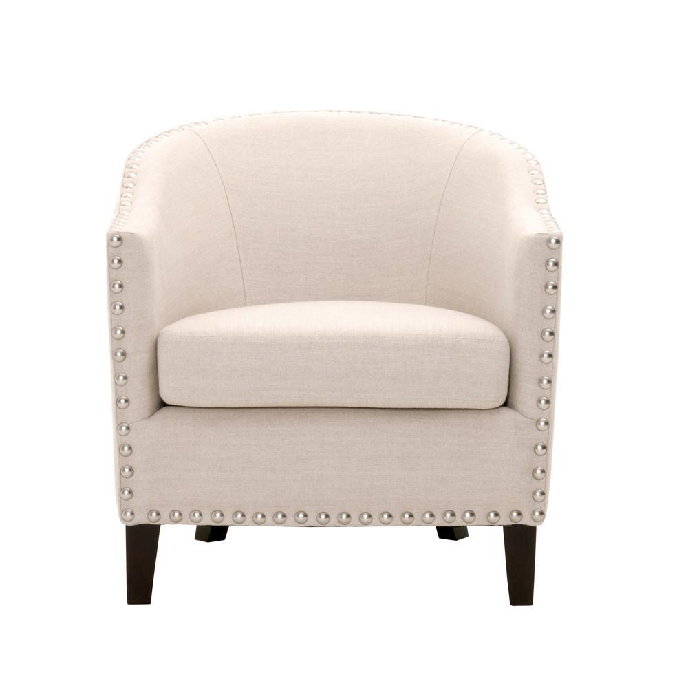Moore Linen Oatmeal Club Chair