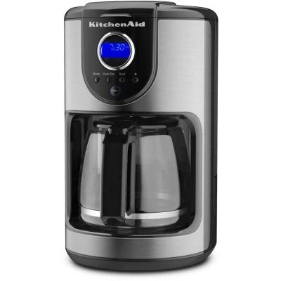 12-Cup Onyx Black Drip Coffee Maker with Glass Carafe
