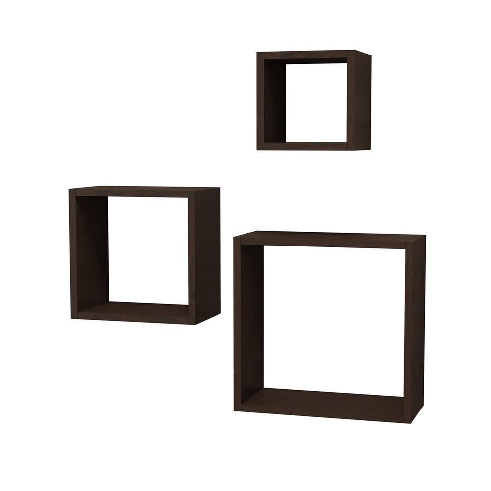 Wes Wenge Modern Wall Shelf