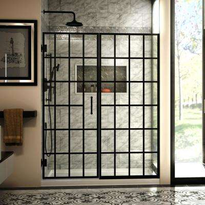 Black Shower Doors Showers The Home Depot
