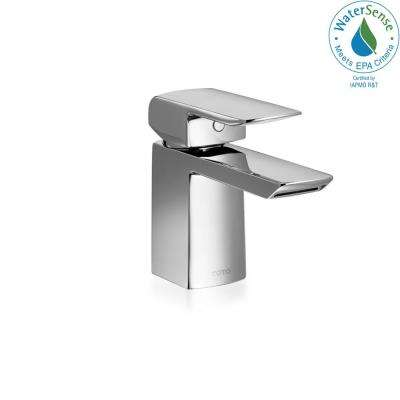 Soiree Single Hole Handle Bathroom Faucet In Polished Chrome