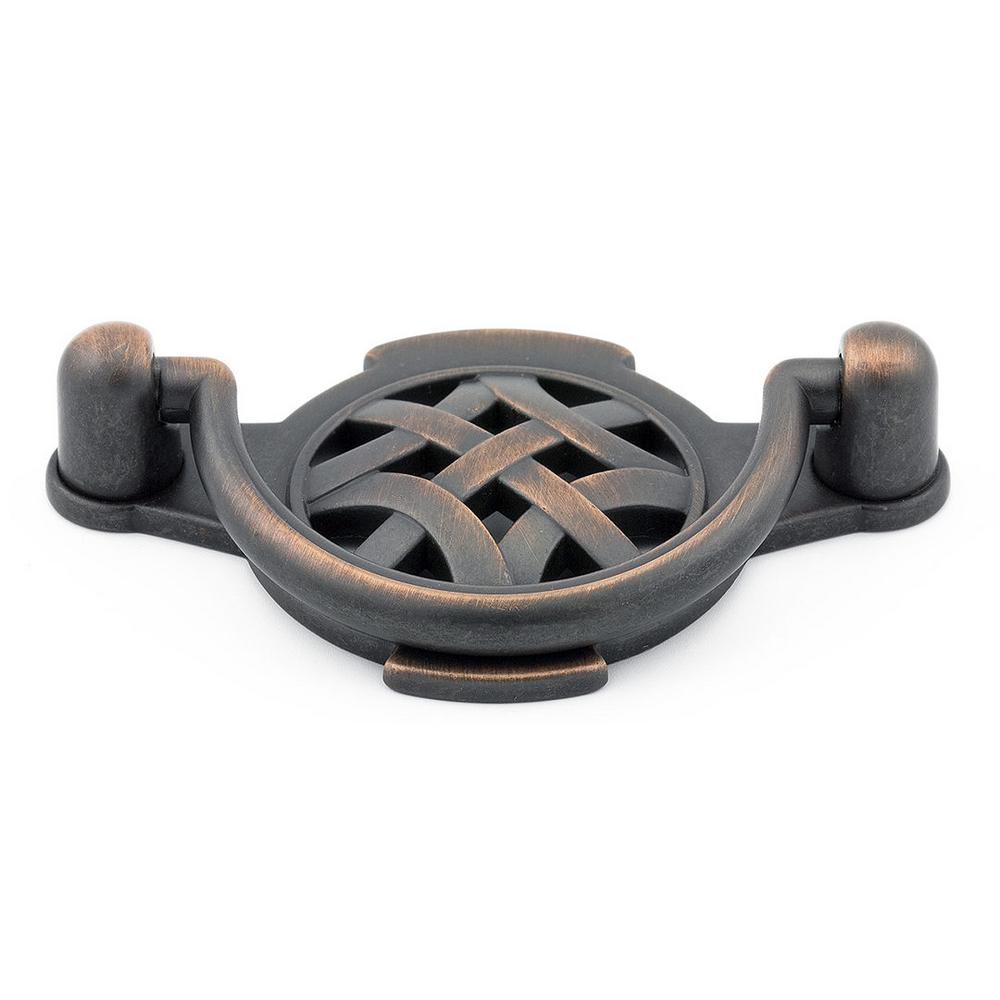 Traditional 2-17/32 in. (64 mm) Brushed Oil-Rubbed Bronze Cabinet Bail pull