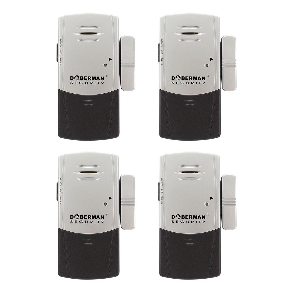 Doberman Security Door And Window Defender Wireless Alarm With Chime 4 Pack