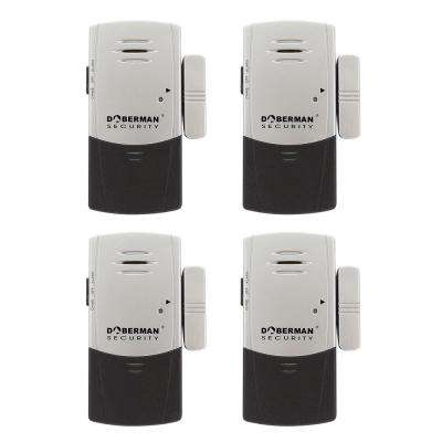 Door and Window Defender Wireless Alarm with Chime (4-Pack)