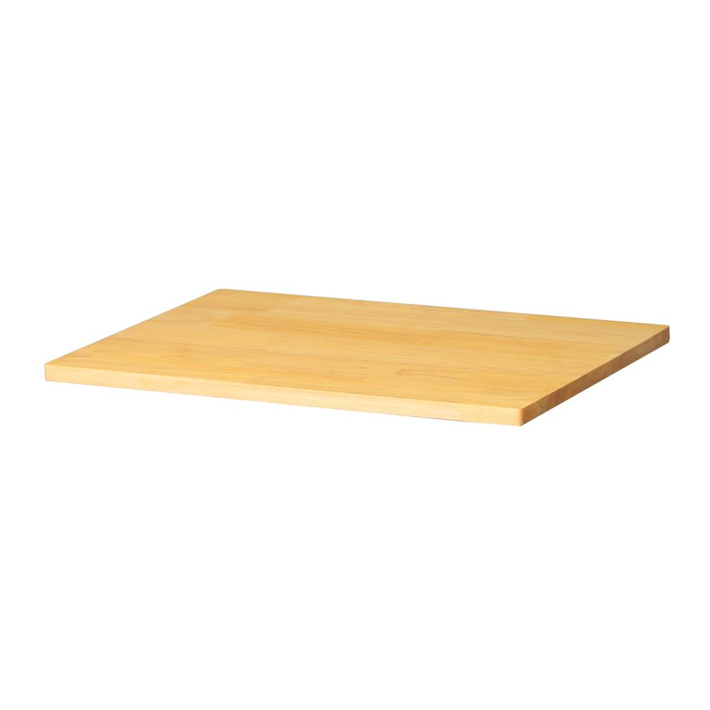Husky 0.8 in. x 24 in. x 16 in. Solid Wood Top for Welded 24 in. Base Cabinets