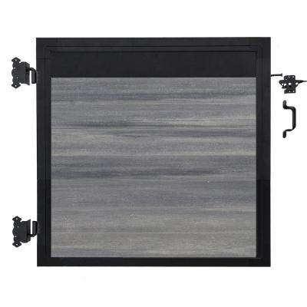 Euro Style 4 ft. W x 4 ft. H Oxford Grey Aluminum/Composite Estate Adjustable Fence Gate