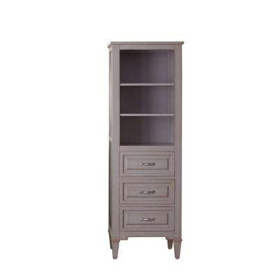 Kelly 22 in. W x 65 in. H x 15 in. D Bathroom Linen Storage Tower Cabinet in Grayish Blue