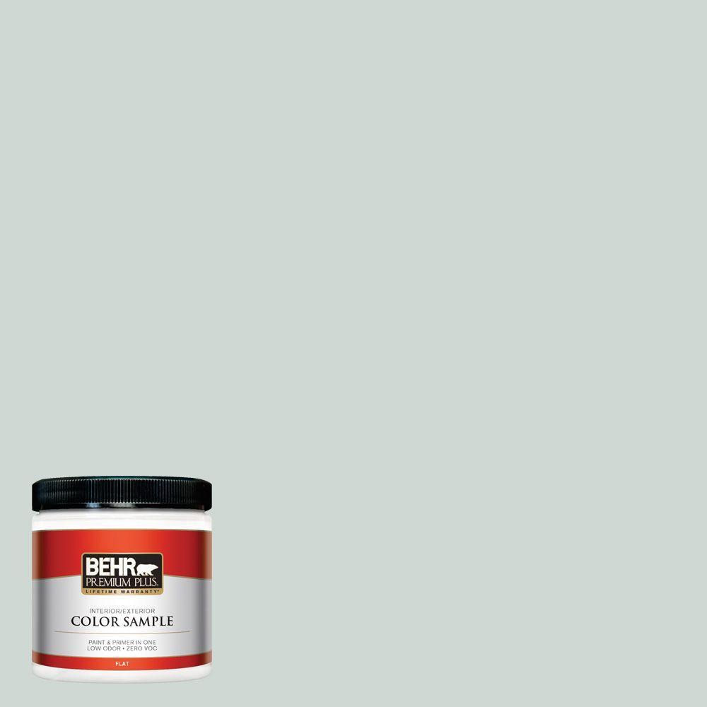 BEHR Premium Plus 8 oz. #BIC-11 Serene Journey Interior/Exterior Paint Sample