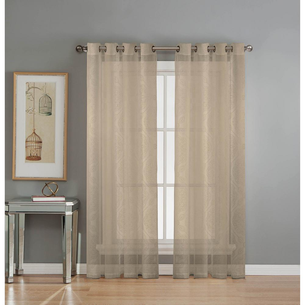 polyester mesh sheer outdoor collection l home p tab beautyrest black back ivory in curtain decorators curtains drapes
