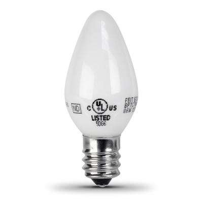 7-Watt Equivelant C7 2700K White LED E12 Night Light Bulb (2-Pack)