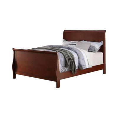Magnificent Cherry Twin Size Wooden Bed
