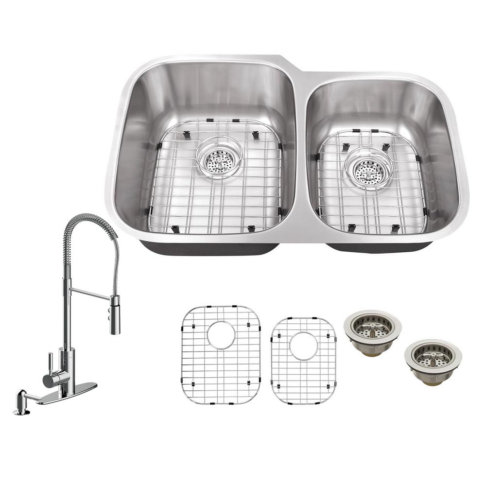 Ipt sink company all in one undermount stainless steel 32 in 6040 ipt sink company all in one undermount stainless steel 32 in 60 workwithnaturefo