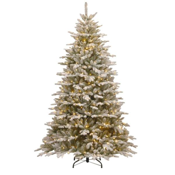 7.5 ft. Snowy Sierra Spruce Artificial Christmas Tree with Clear Lights